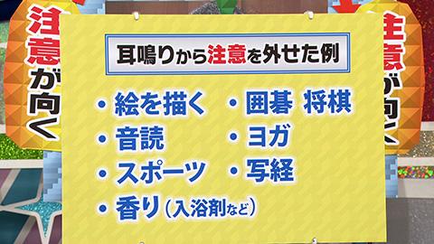 引用:NHK・ガッテン 耳鳴りが劇的改善!